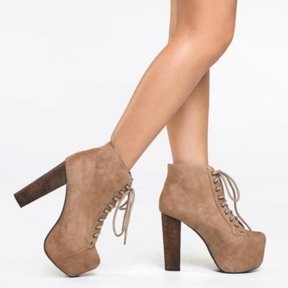 d91a986e47a0 Jeffrey Campbell Shoes - JEFFREY CAMPBELL Suede Lita Boots Platform Heels